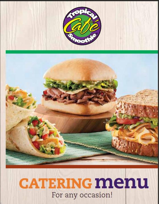 Tropical Smoothie New Catering Menu