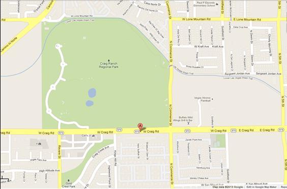 Craig & Commerce Bing Map